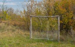 Старое ворот футбола Стоковое Изображение RF