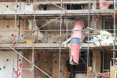 Старое восстановление здания Стоковое фото RF