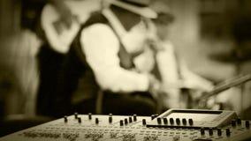 Старое влияние фильма: Момент записи музыки джаз-бэнда сток-видео