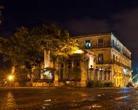 Старое Гавана на ноче стоковое изображение