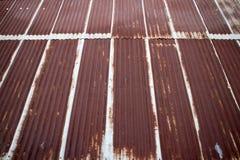 Старое гальванизированное ржавое Стоковое Изображение