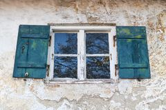 старое деревенское окно Стоковые Изображения