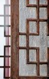 Старое деревянное китайское окно Пекин, Китай Стоковые Изображения