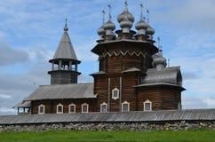 Старое деревянное Kizhi Pogost Karelia Россия стоковая фотография