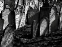 Старое еврейское кладбище в городке Mikulov Стоковые Изображения RF