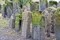 Старое еврейское кладбище в Josefov, Праге, чехии Стоковое фото RF