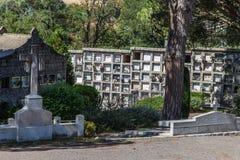 Старое европейское cementery в Cardedeu Стоковое Изображение RF