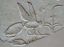 Старое египетское каменное резное изображение Стоковое Изображение RF