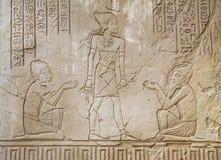 Старое египетское утонутое искусство стоковое изображение rf