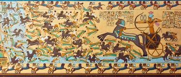 Старое египетское фараонское искусство стоковые фотографии rf