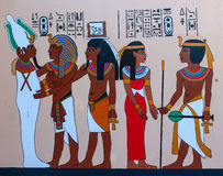 Старое египетское фараонское искусство стоковая фотография rf
