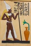 Старое египетское фараонское искусство стоковые изображения
