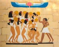 Старое египетское фараонское искусство стоковые изображения rf