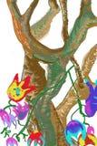 Старое дерево в фантазии осени Стоковое Изображение