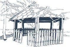 Старое деревянное газебо Стоковая Фотография
