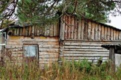 Старое деревянное здание сделанное из древесины Стоковые Фото