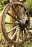Старое деревянное колесо телеги Стоковые Фото