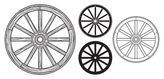 Старое деревянное колесо бесплатная иллюстрация