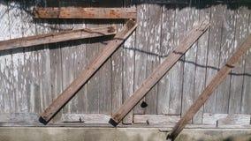Старое деревянное окно и деревянные детали текстура и предпосылки Стоковые Фото