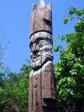 Старое деревянное резное изображение стоящий человек 6 Стоковое Изображение RF