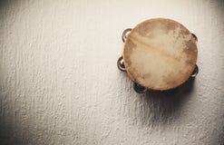 Старое деревянное тамбурин Стоковое Изображение