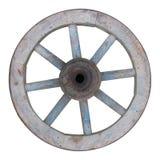 Старое деревянное spoked колесо Стоковые Изображения
