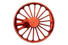 Старое железное lokomotive колесо Стоковое Изображение