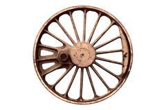 Старое железное lokomotive колесо Стоковые Фото