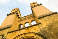 Старое старое загубило римский мост башни, Провансаль, Verdon, Францию стоковые изображения rf