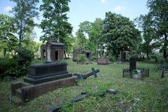 Старое загубленное кладбище Стоковое Фото