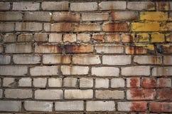 Старое загубленное brickwall Стоковая Фотография