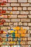 Старое загубленное brickwall Стоковая Фотография RF