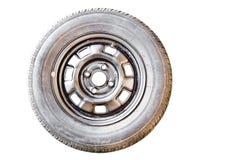 старое запасное колесо Стоковые Фотографии RF