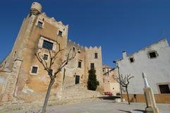 Старое здание в Altafulla стоковое фото rf