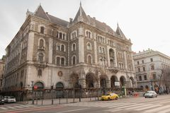 Старое здание и городская сцена в Будапеште стоковые фотографии rf