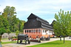 Старое здание печатая Polanica Zdroj, Польша стоковые изображения