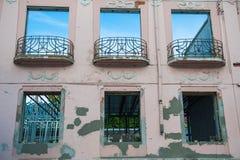 Старое здание под реконструкцией, комнатой для подрывания стоковая фотография