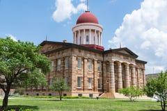 Старое здание столицы государства Иллинойса стоковое изображение rf