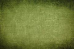 Старое зеленое brickwall с темными границами виньетки Стоковое Изображение