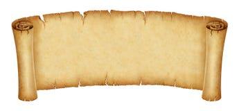 Старое знамя переченя изолированное на белой предпосылке иллюстрация штока