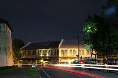 Старое здание в городке центра Бангкока Стоковая Фотография RF