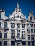 Старое здание в главной площади Брюсселя, Бельгии Стоковое фото RF