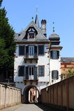 Старое здание как часть от дворца, weinheim Стоковая Фотография