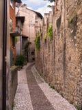 Старое здание на Malcesine на озере Garda в северной Италии стоковое фото rf
