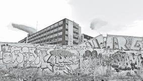 Старое здание силы пакета за мёдами Бристолем виска Стоковая Фотография RF