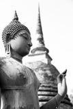 Старое изображение Будды, черно-белое Стоковая Фотография RF