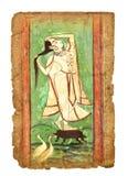 Старое индийское изображение стоковое фото