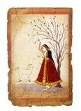 Старое индийское изображение стоковые изображения rf
