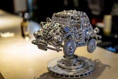 Старое искусство жука сделанное металлоломом стоковые изображения rf