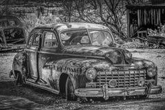 Старое и ржавое автомобильное BENTON, США - 29-ОЕ МАРТА 2019 стоковая фотография rf
